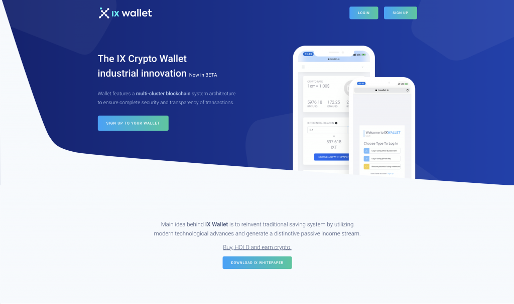 Is IX Wallet a Scam - Landing Page