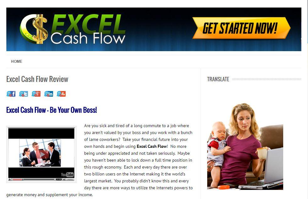 Is Excel Cash Flow a Scam - Landing Page