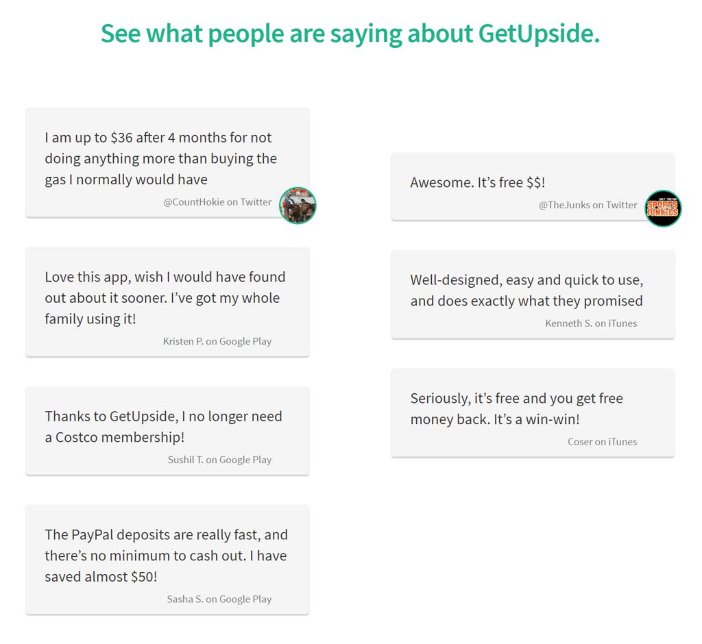 Is GetUpside a Scam - Positive Reviews