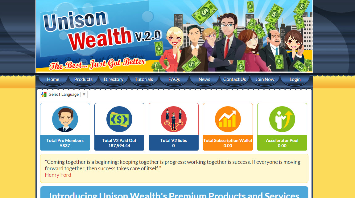 Is Unison Wealth a Scam - Landing Page