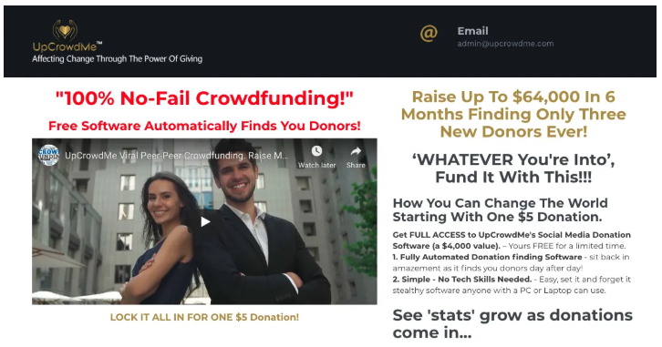 Is UpCrowdMe a Scam - Landing Page