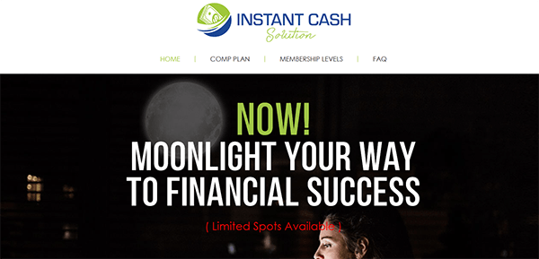 Instant Cash Solution Review - Landing Page