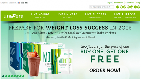 Is Univera a Scam - Product Page