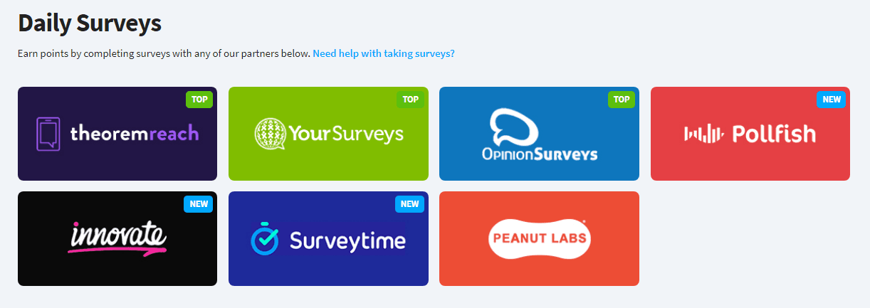Earnably Review - Daily Surveys