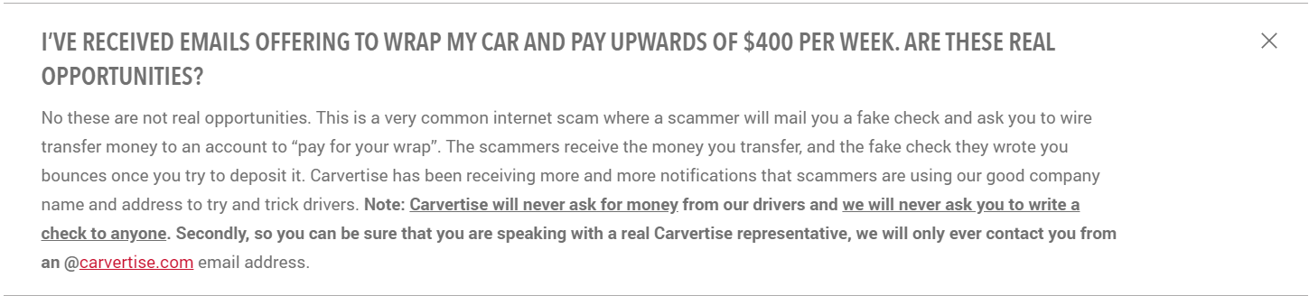 Is Carvertise a Scam - Carvertise Scam