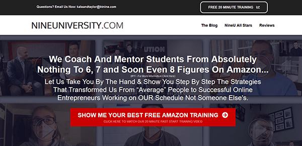 Nine University Review - Landing Page