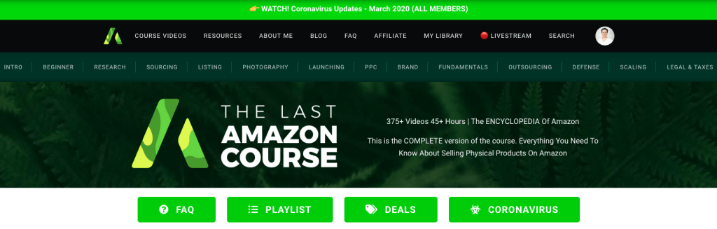 The Last Amazon Course Review - Landing Page