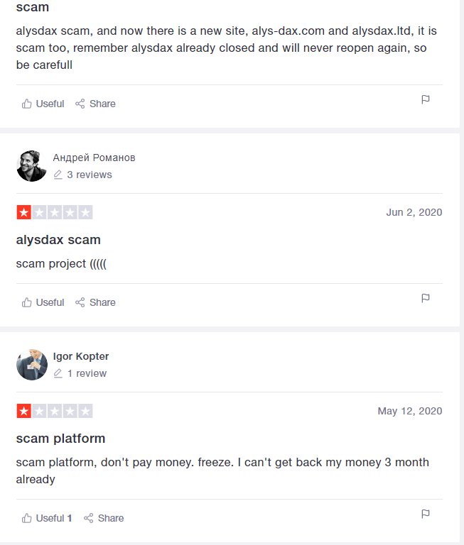 What Is Alysdax - Scam Feedback