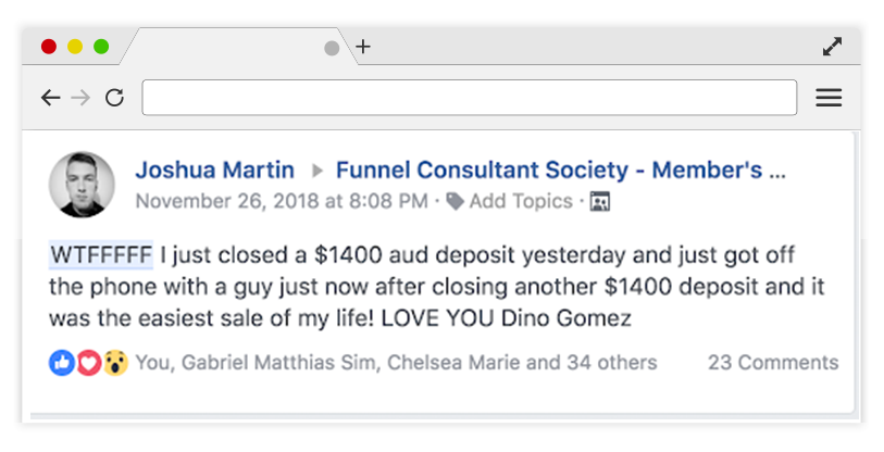 What Is Funnel Consultant Society - Positive Feedback Again
