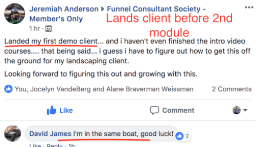 What Is Funnel Consultant Society - Positive Feedback