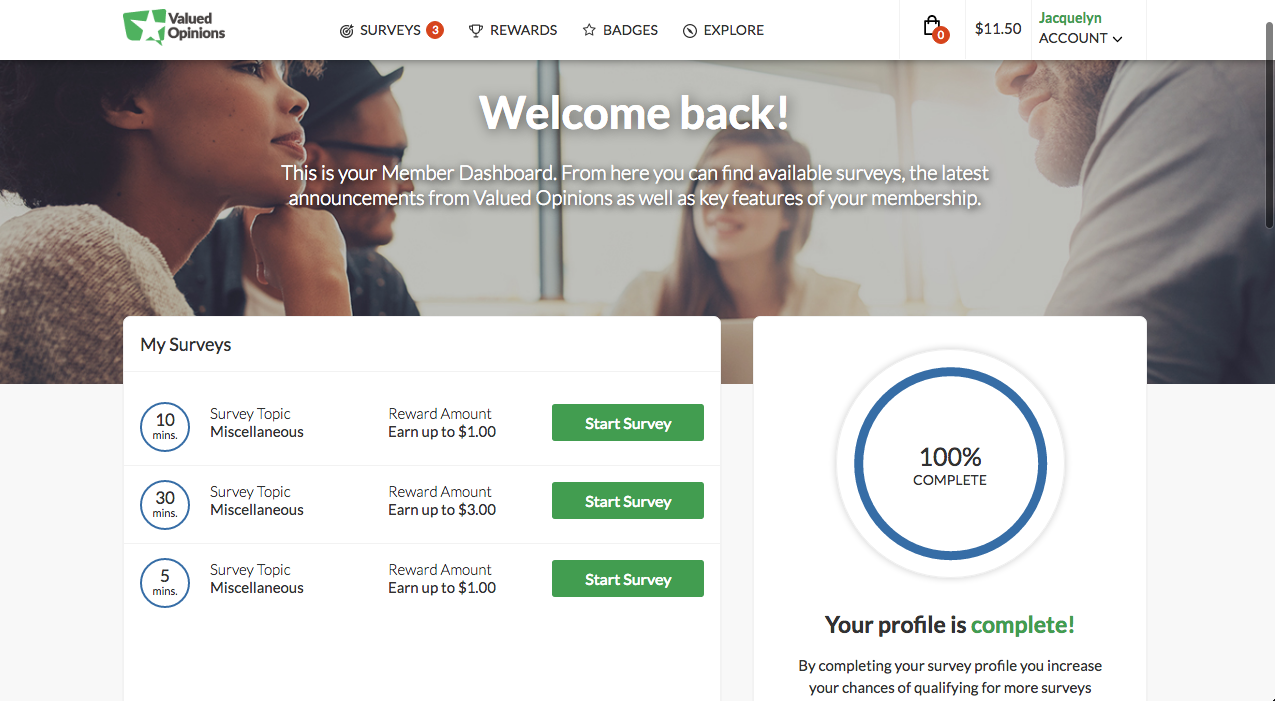 Valued Opinions Review - Landing Page