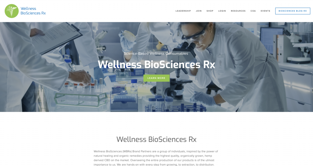 What Is Wellness Biosciences RX -Landing Page