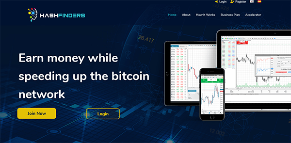 HashFinders Review - Landing Page