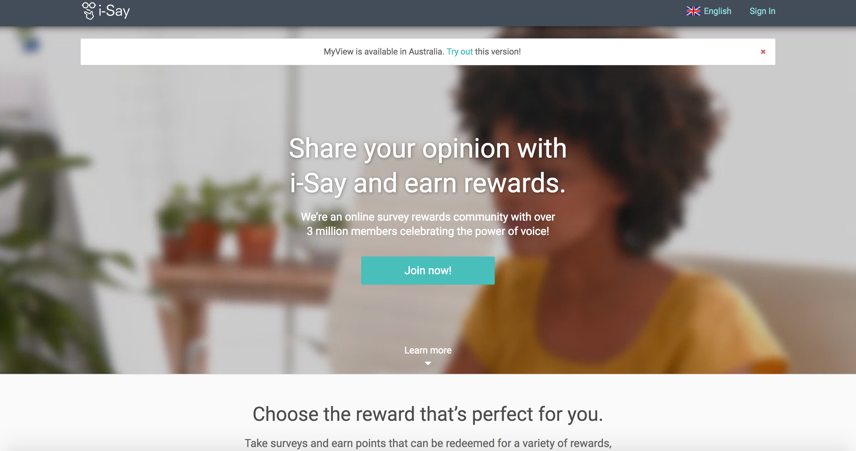 I Say Survey Review - Landing Page