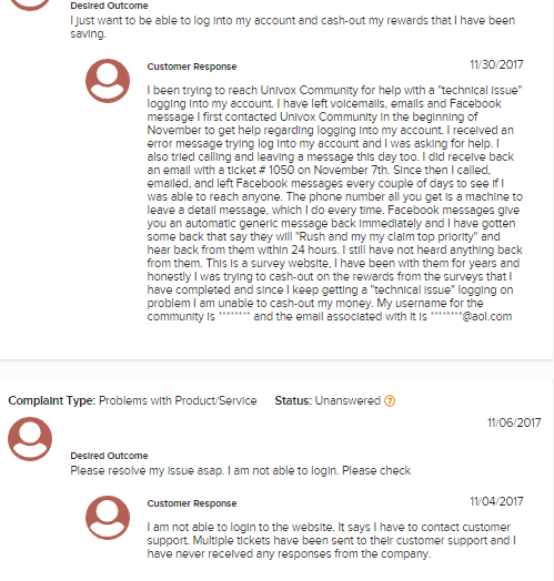 Is Univox a Scam - Complaints About Getting Blocked