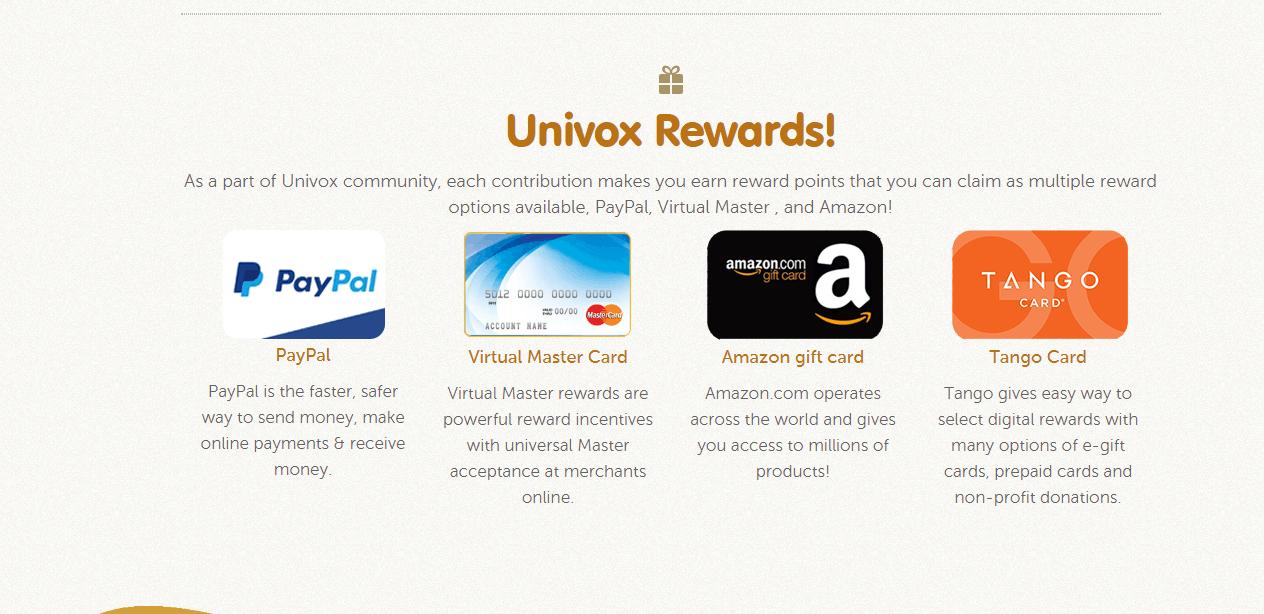 Is Univox a Scam - Rewards