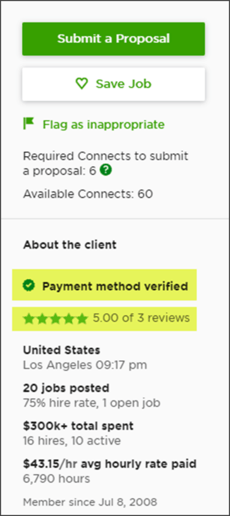 Upwork Review - Verified Client