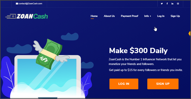 What Is ZoanCash - Landing Page