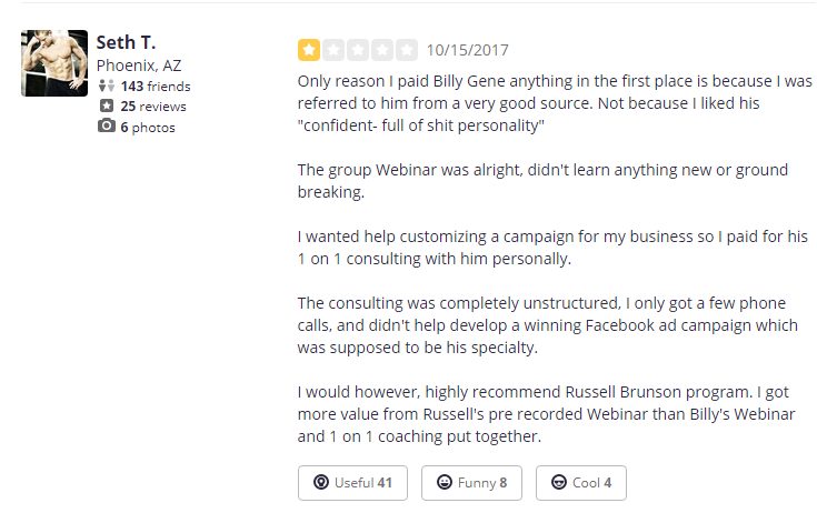 Billy Gene Is Marketing Review - All Fluff, No Filler Part 2