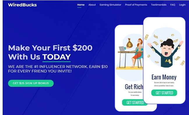 WiredBucks Review - Landing Page