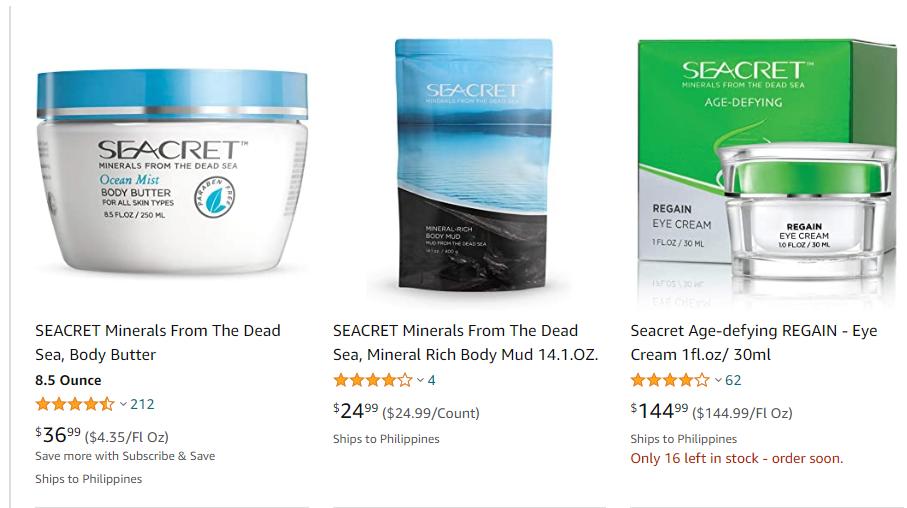 Is Seacret Direct a Scam - Amazon Listing