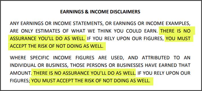 What Is EZ Salaryz - Earnings Disclaimer