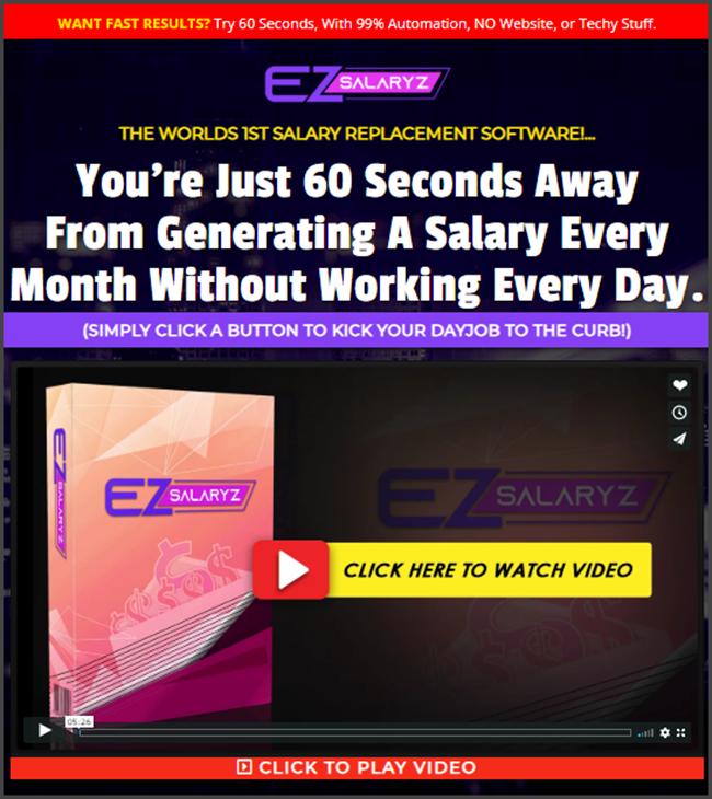 What Is EZ Salaryz - Landing Page