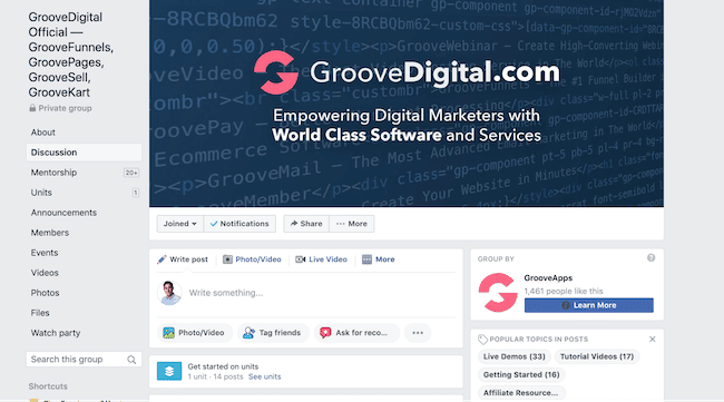 GrooveFunnels Review - Facebook Community