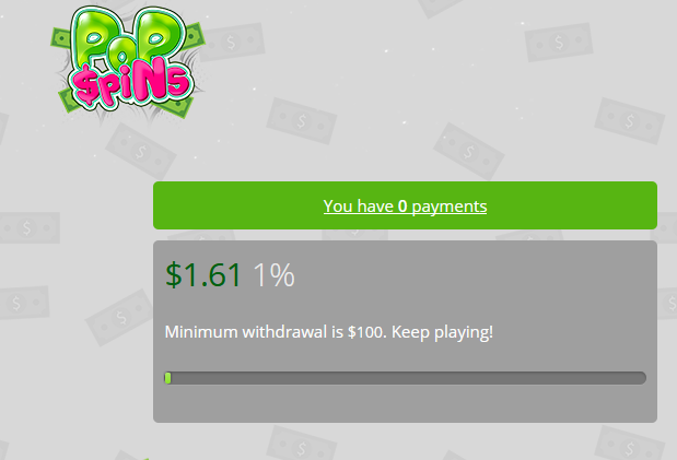 What Is Pop Spins - Payment Threshold