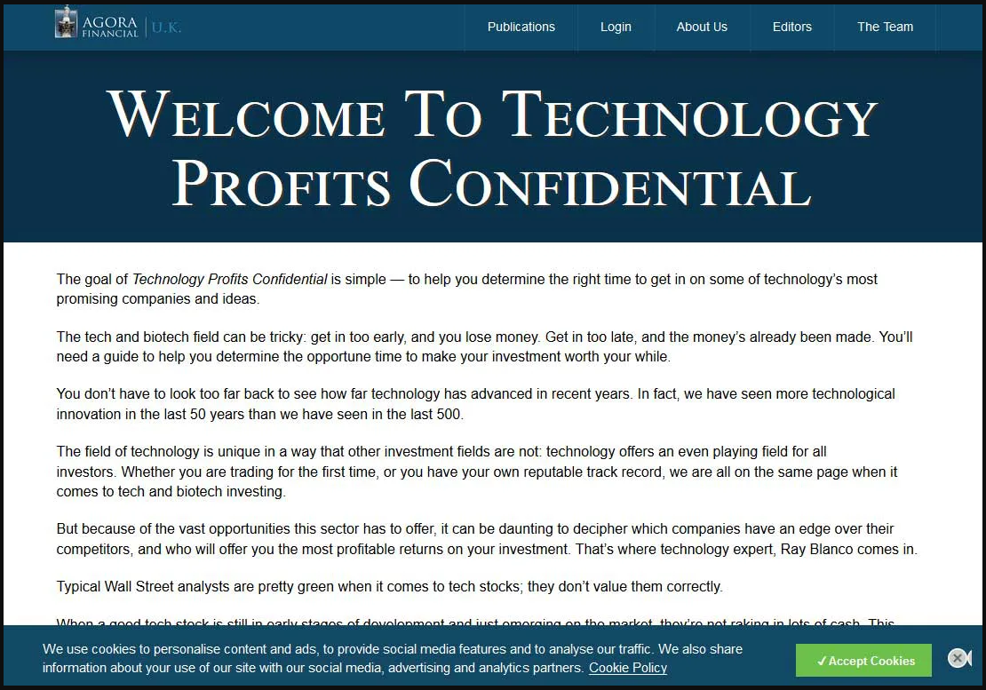 Technology Profits Confidential Review - Information