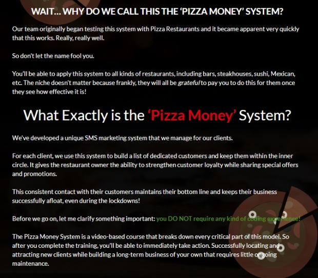 Pizza Money System Review - History