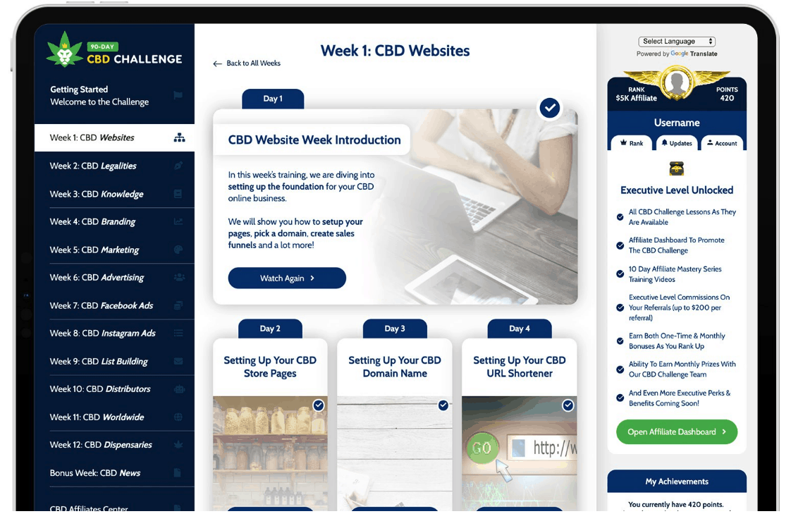 What Is 90 Day CBD Challenge - Members Area