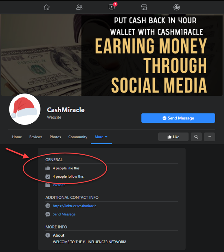 What Is CashMiracle - Facebook Likes